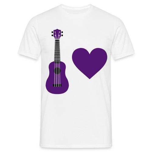 Ukulele Love - Purple - Men's T-Shirt