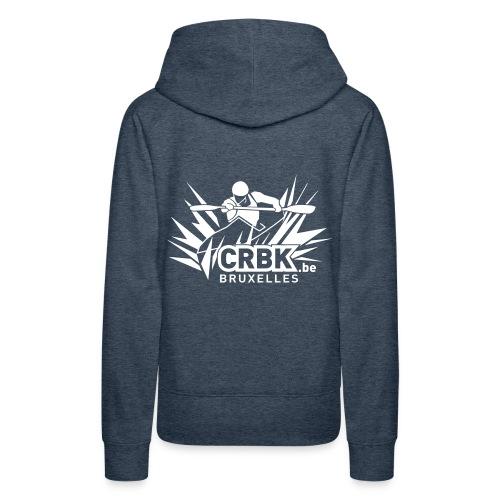 Sweat-shirt capuche femme bleu - CRBK - Sweat-shirt à capuche Premium pour femmes
