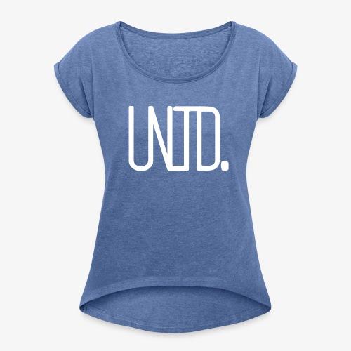 Sixtyfiveo Unltd. Shirt - Frauen T-Shirt mit gerollten Ärmeln
