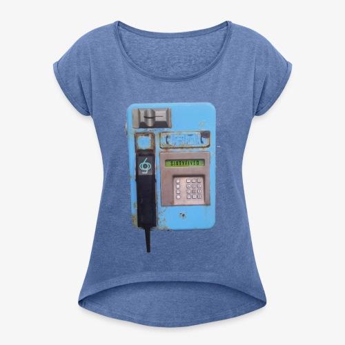 Sixtyfiveo Oldschool-Phone Shirt - Frauen T-Shirt mit gerollten Ärmeln
