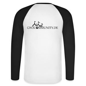 GW2Com Langarm-Shirt (schwarz/weiß) - Männer Baseballshirt langarm