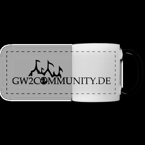 GW2Community Tasse (schwarzes Logo) - Panoramatasse