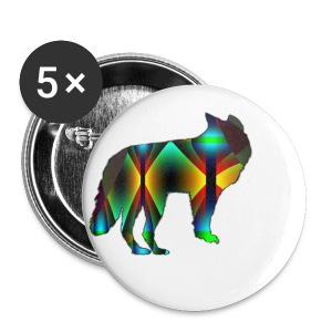 Loup  - Badge petit 25 mm
