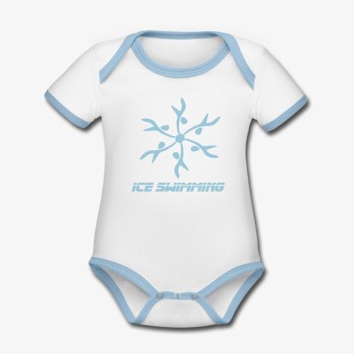 Nachwuchs Ice Swimmer - Baby Bio-Kurzarm-Kontrastbody