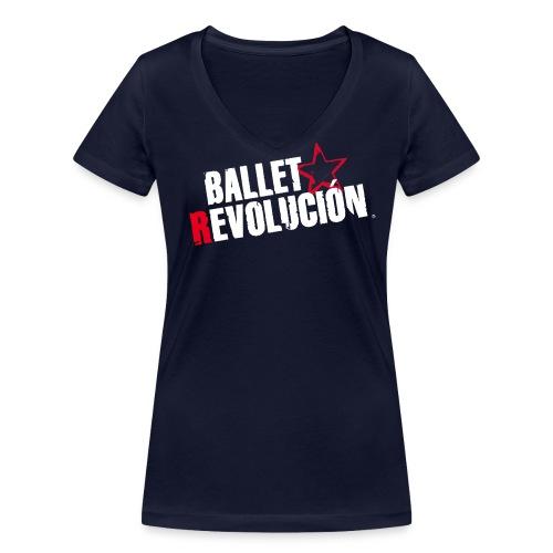 Bio Damen T-Shirt Ballet Revolución, navy - Frauen Bio-T-Shirt mit V-Ausschnitt von Stanley & Stella