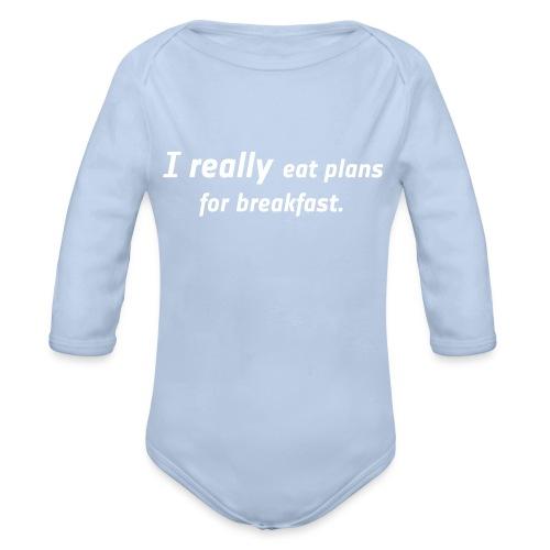 Bio Body lang - I really eat plans - Baby Bio-Langarm-Body