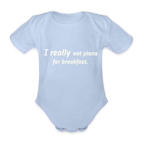 Bio Body kurz - I really eat plans - Baby Bio-Kurzarm-Body
