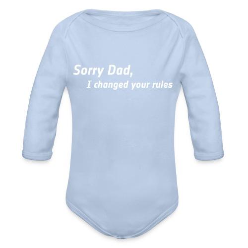Bio Body lang - Sorry Dad - Baby Bio-Langarm-Body