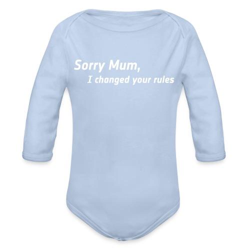 Bio Body lang - Sorry Mum - Baby Bio-Langarm-Body