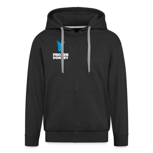 Frozen Zipper - Männer Premium Kapuzenjacke
