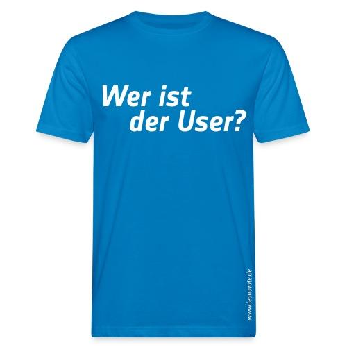 Bio T-Shirt - Wer ist der User? - Männer Bio-T-Shirt