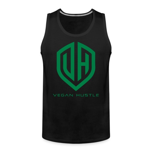 MEN'S VEGAN HUSTLE TANK TOP - Men's Premium Tank Top