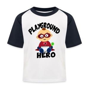 Playground Hero - Kinder Baseball T-Shirt