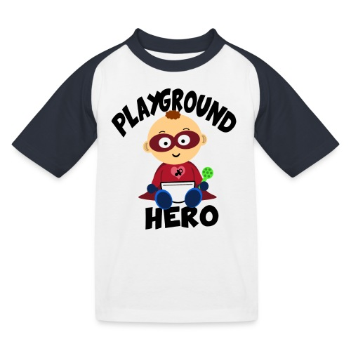 Playground Hero - Kinder Baseball T-Shirt