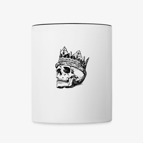 Totenkopf König Tasse - Tasse zweifarbig