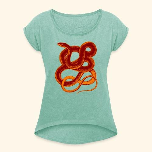 Snake - Frauen T-Shirt mit gerollten Ärmeln