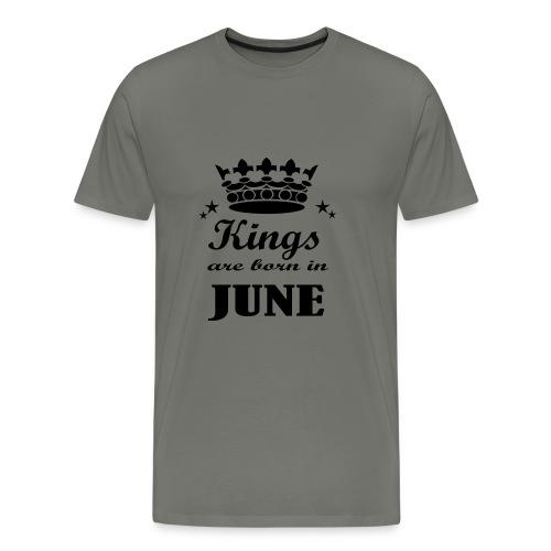 Geburtstagsshirt Juni Männer - Männer Premium T-Shirt