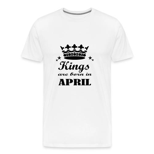 Geburtstagsshirt April Männer - Männer Premium T-Shirt