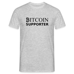 Bitcoin supporter - Men's T-Shirt