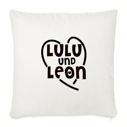 Lulu & Leon - Family and Fun - Sofakissenbezug - Herzlogo - Sofakissenbezug 44 x 44 cm