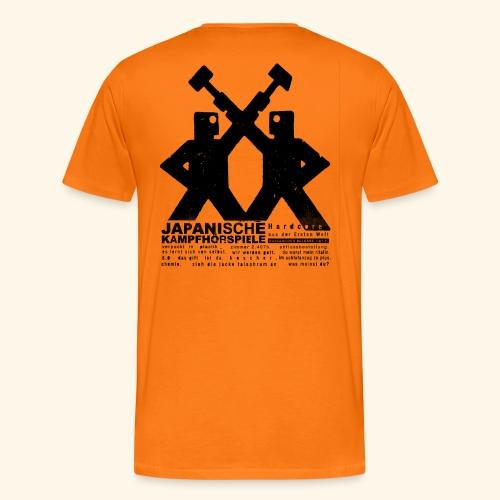 JAPANISCHE KAMPFHÖRSPIELE -   aus der Ersten Welt, beidseitig bedruckt - Männer Premium T-Shirt