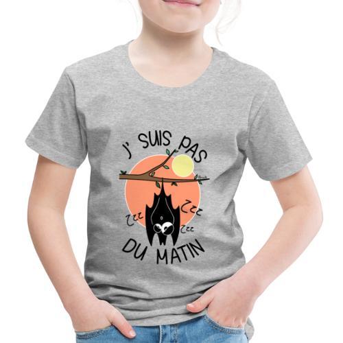 T-shirt P Enfant Chauve-souris, J' suis pas du Matin - T-shirt Premium Enfant