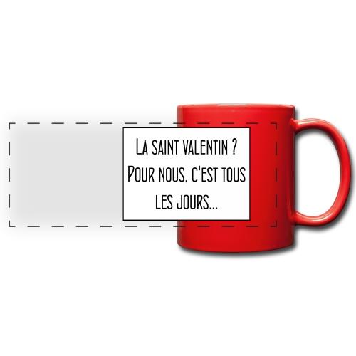 Tasse Valentin - Mug panoramique uni