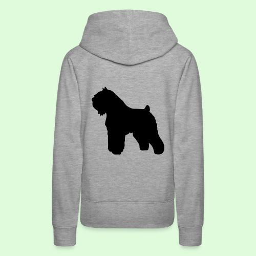 L'ombre du Bouvier des Flandres - Sweat-shirt à capuche Premium pour femmes
