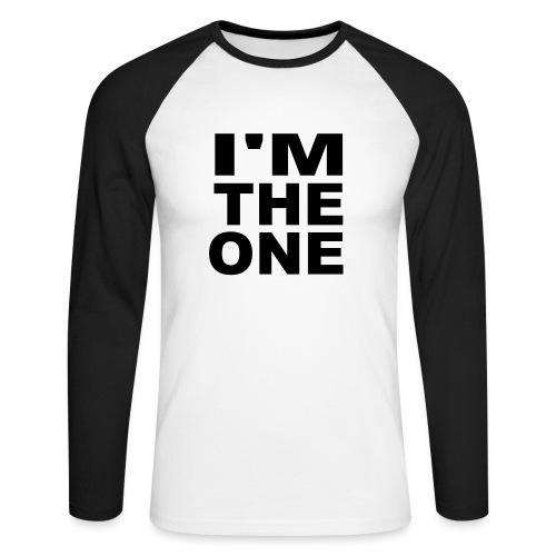 I'm the one zwart-wit shirt - Mannen baseballshirt lange mouw