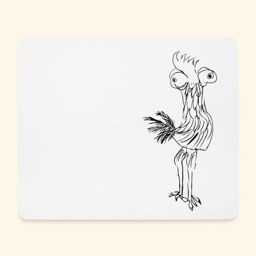 Mouse Pad Lustiger Gockel - Mousepad (Querformat)