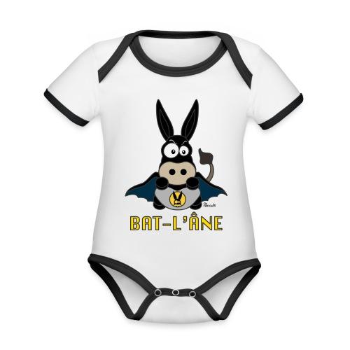 Body Bébé Âne Super Héros - Body Bébé bio contrasté manches courtes