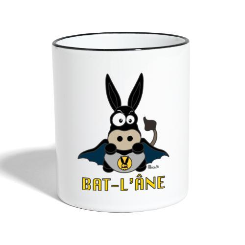 Tasse bicolore Âne Super Héros - Mug contrasté
