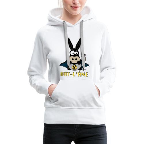 Sweat-shirt P Femme Âne Super Héros - Sweat-shirt à capuche Premium pour femmes