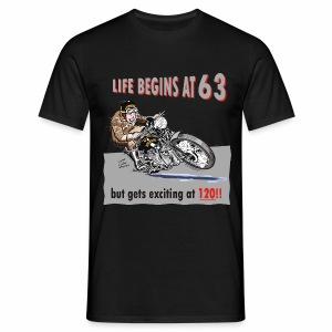 Life begins at 63 (R8) - Men's T-Shirt