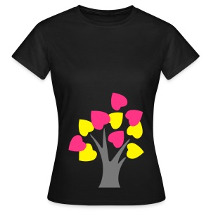 Glowing heart tree - Women's T-Shirt