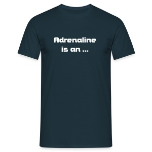 Adrenaline is an ... Hardstyle effect (navy) - T-shirt Homme