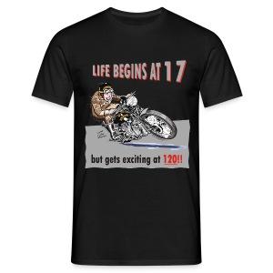 Life begins at 17 biker birthday t-shirt - Men's T-Shirt