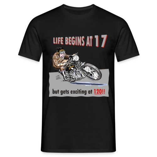 Life begins at 17 biker birthday t-shirt - Men's T-Shirt
