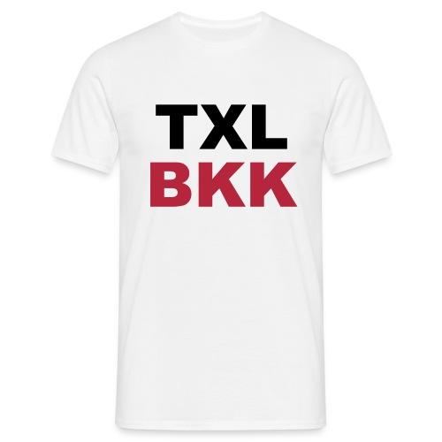 TXL BKK, Berlin Tegel nach Bangkok - Männer T-Shirt