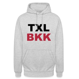 TXL BKK, Berlin Tegel nach Bangkok - Unisex Hoodie
