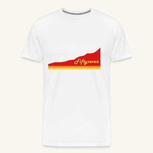 Fiftyseven RED Mountain Premium Männer T-Shirt - Männer Premium T-Shirt