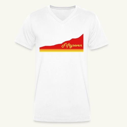 Fiftyseven RED Mountain Männer V-Ausschnitt - Männer Bio-T-Shirt mit V-Ausschnitt von Stanley & Stella