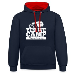 Yes we camp! - UNISEX Hoodie - Kontrast-Hoodie