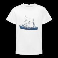 Shirts ~ Teenage T-shirt ~ Blue Boat (kids)
