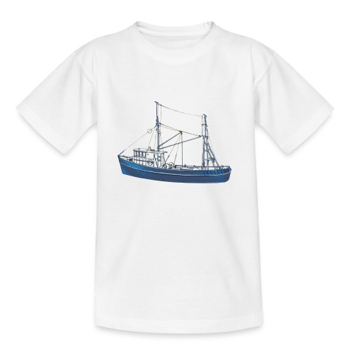 Blue Boat (kids) - Teenage T-Shirt