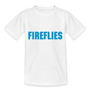 Fireflies T-shirt pee-wee/junior white/blue - Teenage T-shirt