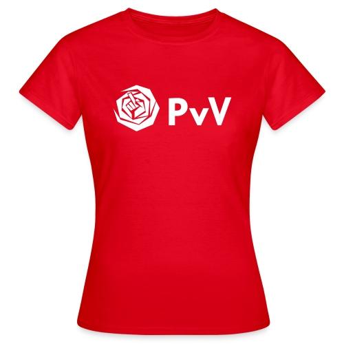 PvdA/PvV wit - Vrouwen T-shirt