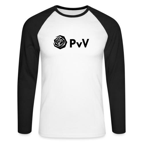 PvdA/PvV longsleeve - Mannen baseballshirt lange mouw