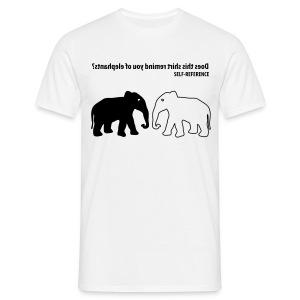Self Reference | Zwart | M - Mannen T-shirt