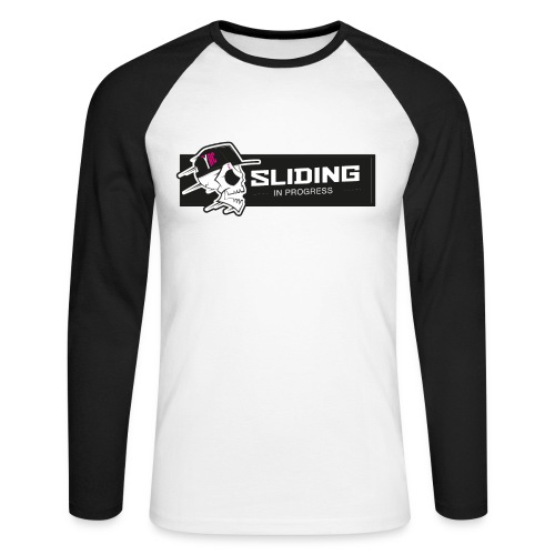 Sliding in progress - long sleeve - Men's Long Sleeve Baseball T-Shirt